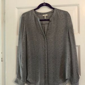Joie 100% Silk blouse.  Collarless, Size small.